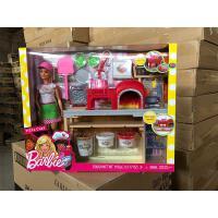 ?芭比娃娃女孩公主大礼盒玩具套装儿童过家家厨房之披萨学院? FHR09 15厘米-30厘米