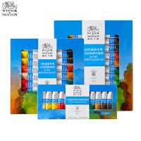 英国温莎牛顿水彩颜料24色初学者水彩画颜料套装12色18色儿童管状水彩颜料美术色彩可分装水彩颜料画材用品