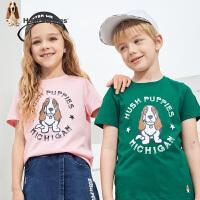 【3件3折:47.4】暇步士童装儿童短袖T恤2020夏装新款男童圆领衫透气棉中大童上衣