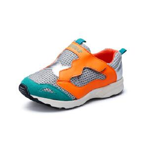 比比我女童运动鞋2017新款潮网面透气儿童休闲鞋女童宝宝跑步鞋