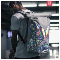 性大容量双肩背包包学生书包旅行包男包女街头潮流运动水桶