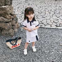 夏装童装女童运动套装两件套裙子女宝宝公主裙儿童短袖小童半身裙