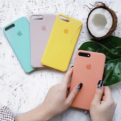 苹果手机壳女款ins网红iphone78pluscase液态硅胶防摔XR 苹果XS (备注颜色)