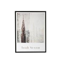 北欧极简有框装饰画 现代抽象客厅书房城市风景画 样板间墙面装饰 60*80