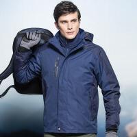户外冲锋衣男女可拆卸两件套冬季防风外套西藏登山服三合一