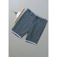 [66-228]亚麻男装裤子男士休闲短裤0.26