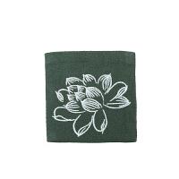 刺绣棉麻茶杯垫方形双层布艺隔热垫茶杯托茶壶垫中式功夫茶道配件