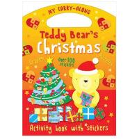 【�A�】泰迪熊的圣�Q� Teddy Bear's Christmas 英文原版 圣�Q�� �和�趣味互�邮フQ童�� 圣�Q��Y物