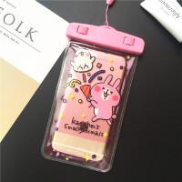 顽皮豹独角兽卡通手机防水袋透明苹果8 7plus 6s X触屏通用型温泉