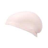 少女长发游泳帽中大童游泳布帽初高中学生男孩游泳装备纯色游泳帽 纯 桔粉布