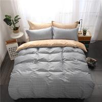 法莱绒加绒加厚被套四件套床上用品保暖 灰色 小半