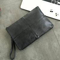 潮流时尚男士皮质手包 休闲男女士信封包 轻商务iPad包单肩斜跨包