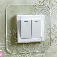 开关贴墙贴开关保护套86型墙壁灯开关装饰套插座免粘透明现代简约