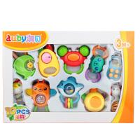 澳贝婴儿手摇铃玩具牙胶益智可水煮0-1岁手抓新生儿3-6-12个月