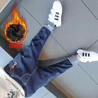 宝宝加绒牛仔裤韩版男童小脚裤3岁儿童长裤子小童秋冬装2018新款 加绒款