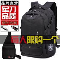 瑞士军刀双肩包高中学生书包男女旅行旅游休闲商务电脑包男士背包