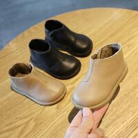 秋冬季短靴子女宝宝儿童棉鞋1-3岁男小童0一2婴儿学步鞋软底童鞋