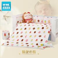 婴儿床品套件经典床围床单被子被芯枕套婴儿床五件套九件套a372 随便心情
