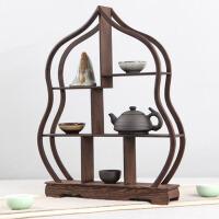 茶具架子紫砂茶壶架红木中式木雕刻工艺品