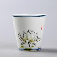 功夫茶杯�伪�日式杯陶瓷品茗杯茶具主人手�L陶瓷小杯子