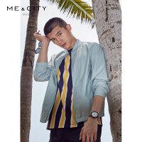 【1件3折到手价:161.7,4月10日0点】MECITY男装夏季新款时尚棒球领夹克男士潮流休闲外套男