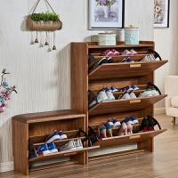 翻斗鞋柜超薄窄收纳神器玄关门厅柜简易17cm门口省空间家用小鞋架