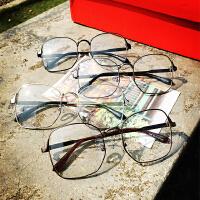 韩国韩版复古方形眼镜框 情侣眼镜 男女平光镜 文艺眼镜架