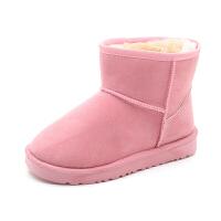 4儿童雪地鞋5女童棉鞋2018冬季新款6保暖加绒男童冬鞋8中大童10岁