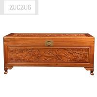 ZUCZUG大号实木香樟木箱子 字画箱书画箱实木家具储物箱衣箱收纳箱