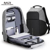 高档商务双肩包男时尚潮流防盗笔记本电脑包15.6寸大学生书包男士大容量背包