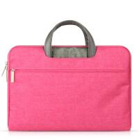 商务戴尔华硕14手提袋办公文苹果12笔记本电脑包15.6男女士13.3寸