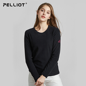 【五一出游特惠】法国PELLIOT伯希和 户外抓绒衣男女秋冬保暖衣加厚防风套头摇粒绒外套