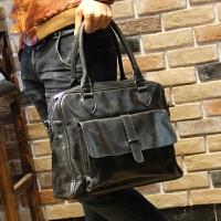 男包单肩包斜挎包男士包包手提包休闲韩版潮流包复古旅行包 图片色