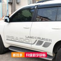 汽车装饰贴门边大字母贴纸于10-18款丰田普拉多霸道改装件 汽车用品