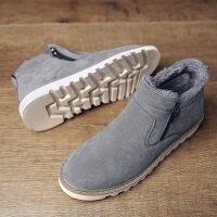 冬季保暖加绒棉靴男士雪地靴男靴子韩版潮流防水防滑棉鞋男鞋短靴