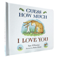 猜猜我有多爱你绘本英文原版 guess how much i love you 宝宝撕不烂纸板书 0-3-6岁婴幼儿儿