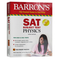 巴朗SAT物理学 第3版 英文原版 SAT Subject Test Physics with Online Test