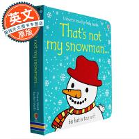 这不是我的雪人 英文原版童书 That's Not My Snowman 纸板书 幼儿触觉认知趣味绘本 翻翻书