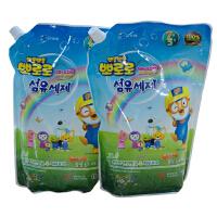 啵乐乐韩国进口婴儿不刺激洗衣液1300ml两袋组合装