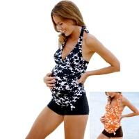 嘀威尼(DIWEINI) 孕妇泳衣孕妇温泉游泳衣怀孕分体平角舒适欧美游泳衣