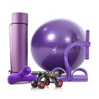 【支持礼品卡】瑜伽垫套装初学者防滑健身垫三件套装备瑜珈毯用品加厚瑜伽球 ke3