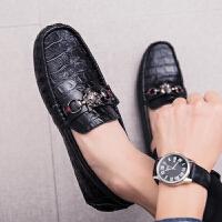 韩版新款百搭个性休闲男鞋潮流懒人亮皮豆豆鞋男秋季鞋子流行 黑色(不加绒) 收藏商品 *包