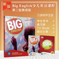 新版 big English 第二版3级别原装进口培生朗文少儿英语教材学生教材套装含书本练习册朗文小英学生账号+big