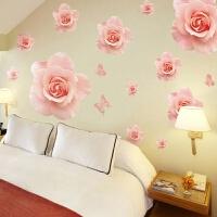 卧室墙贴温馨浪漫房间装饰品墙上贴纸客厅沙发背景家居用品墙贴画 特大