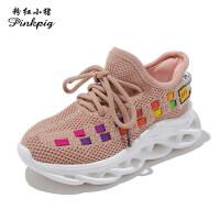 女童运动鞋2019夏款秋季新款小女孩网面中大童男童网鞋透气休闲鞋