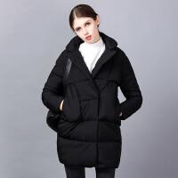 韩版新款冬装结婚礼棉服女中长款 宽松显瘦棉衣外套潮流女装