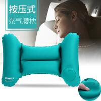 办公室汽车腰垫护腰靠垫靠枕抱枕U型枕靠枕按压自动充气枕头腰枕