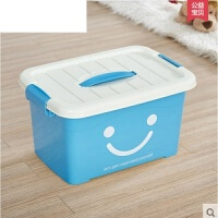 有盖大号小号手提储物箱加厚透明整理箱子透明收纳箱塑料盒子 小号 27*20*17厘米