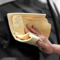 大号鹿皮巾擦车巾擦玻璃专用汽车布洗车抹布头发干发吸水毛巾 汽车用品 66X43cm