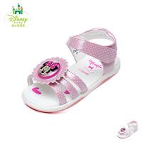 迪士尼Disney童鞋18新款婴幼童学步鞋米妮宝宝鞋儿童闪灯凉鞋夏款女童休闲鞋(0-4岁可选) HS1052